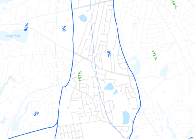 Figure 5-15: MEP-modeled Existing Septic Removal in Halls Creek Watershed