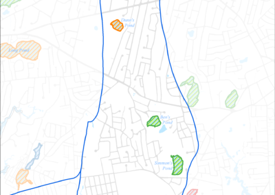 Figure 5-17: Impaired Ponds in Halls Creek Watershed