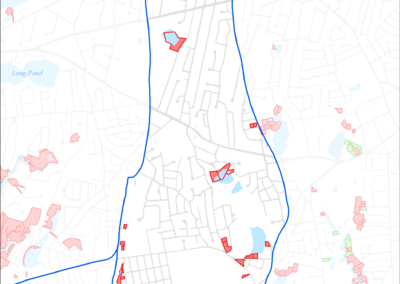 Figure 5-22: Parcels with Less than 4 feet Depth to Groundwater in Halls Creek Watershed