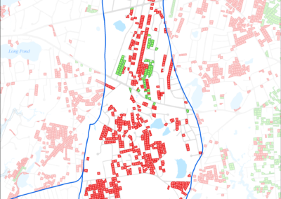 Figure 5-23: Parcels with Less than 0.25 acres in Halls Creek Watershed