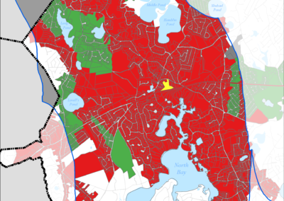 Figure 5-48: Needs Areas in Three Bays Watershed