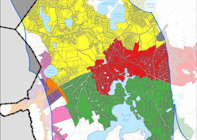 Figure 5-49: Sewer Expansion Plan in Three Bays Watershed