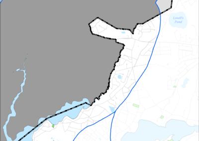 Figure 5-59: FEMA Flood Zones (2014) in Popponesset Bay Watershed