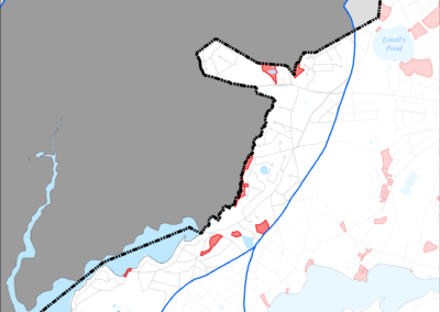 Figure 5-61: Parcels with I/A Septic Systems in Popponesset Bay Watershed