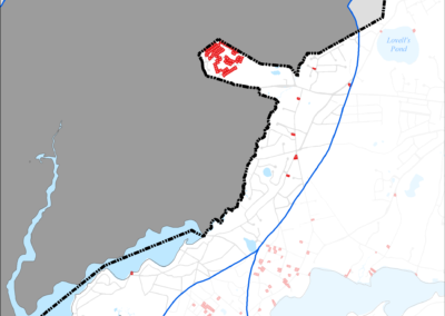 Figure 5-62: Public Water Supply Wells in Popponesset Bay Watershed