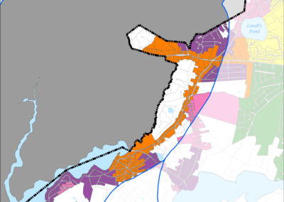 igure 5-64: Parcels with Less than 0.25 acres in Popponesset Bay Watershed