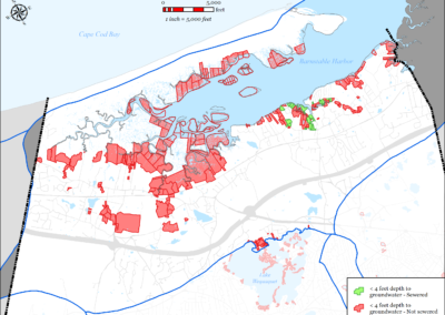 Figure 5-72: Parcels with I/A Septic Systems in Barnstable Harbor Watershed