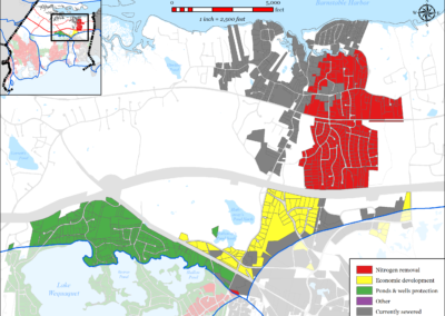 Figure 5-74: Parcels with Less than 4 feet Depth to Groundwater in Barnstable Harbor Watershed